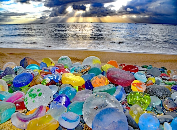 The Destinations Glass Beach in California and Wonderful Places in Italy